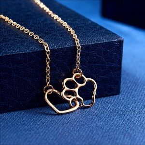 3 For $18 Gold Paw/Heart Necklace